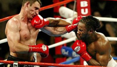 Удар кросс в боксе
