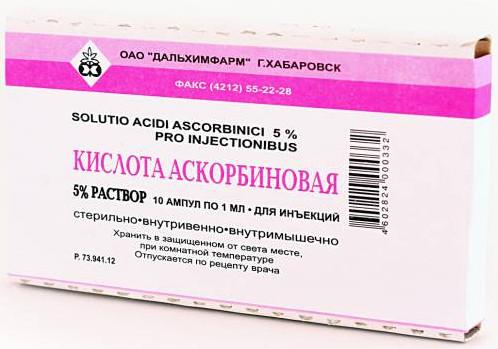 Витамин C в ампулах как применять