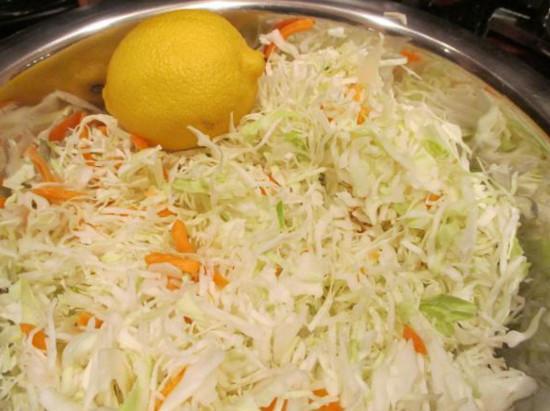 лимон и капуста