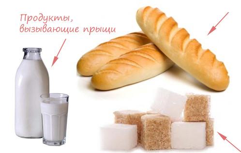 Какие продукты провоцируют появление прыщей и угрей
