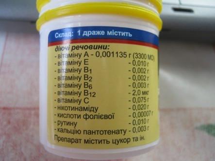 Витамины Ундевит состав