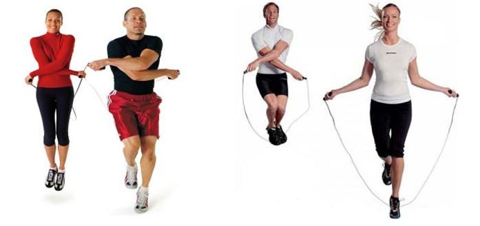прыжки со скакалкой упражнения