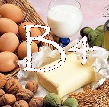 витамин в4 где содержится