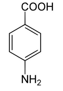 Формулу парааминобензойной кислоты